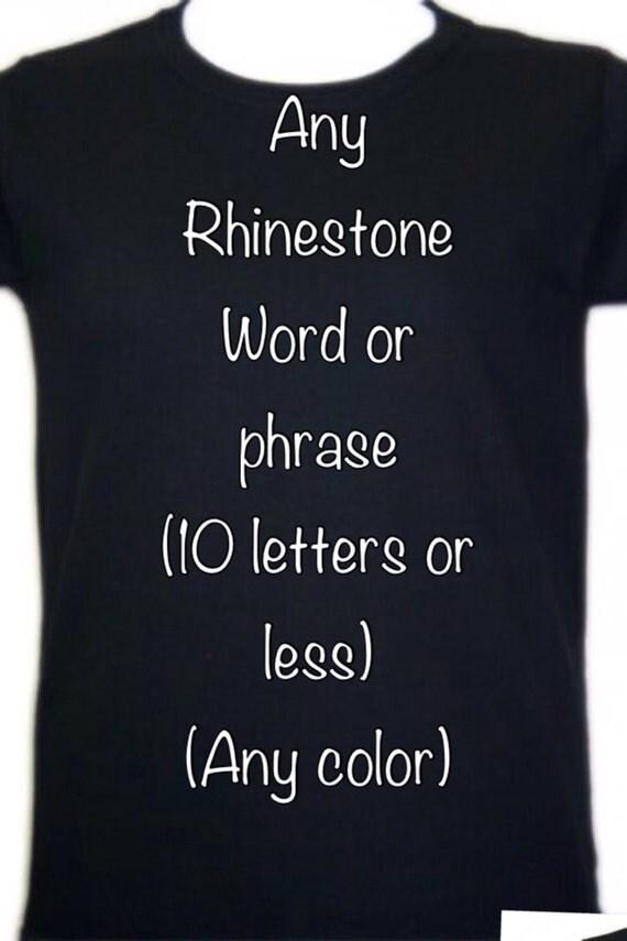 Items Similar To Custom Rhinestone Designed Shirt