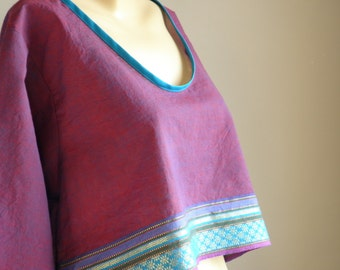 Top fabric for Indian sari - By Bahia Del Sol - free shipping