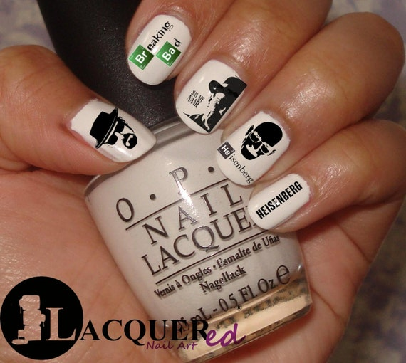 Items Similar To 20 Breaking Bad Nail Art Decals !!!Back