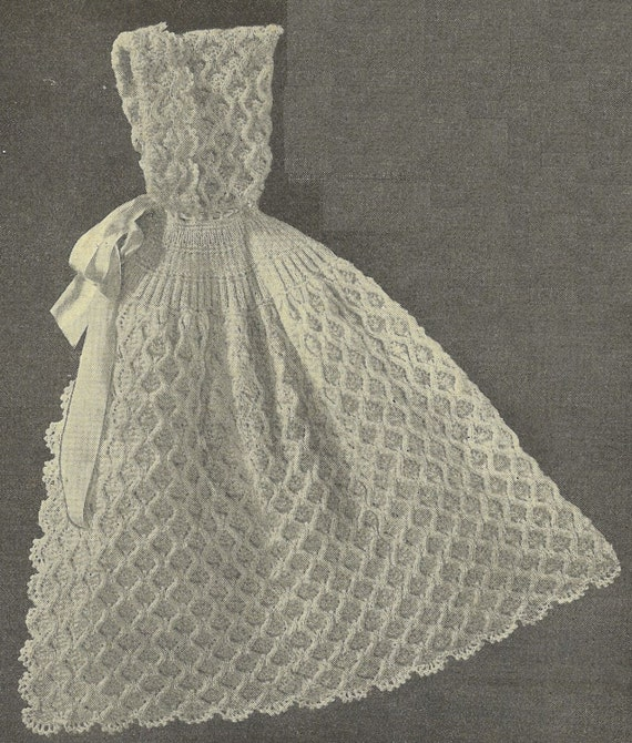 Knitting Pattern For A Baby Cape : VCP Carrying Cape vintage baby knitting pattern PDF instant