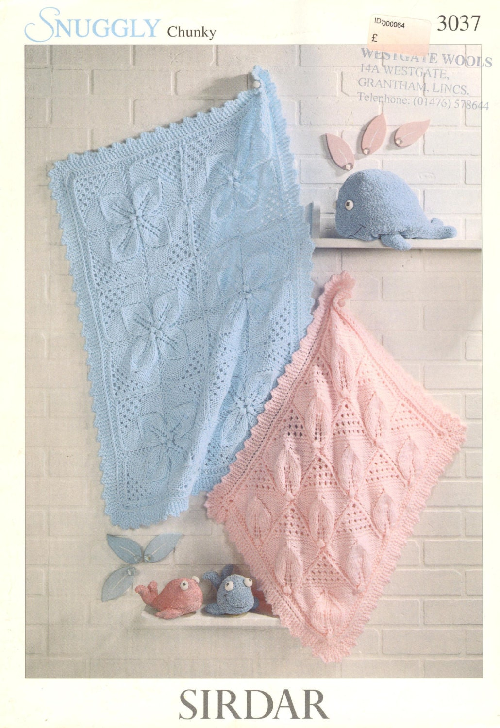 baby cot and pram blanket vintage knitting pattern PDF instant