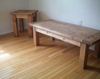 Combo- Coffee & Side Table (Warm Walnut)
