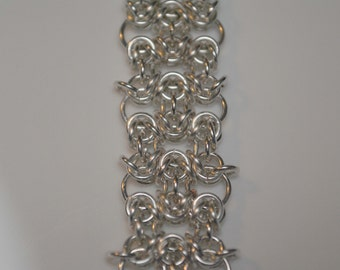 Byzantine and Circles Chainmaille Bracelet