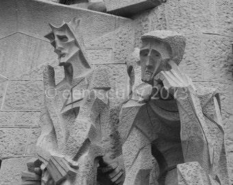 Sagrada Familia - Gaudi - Passion Facade - Barcelona Spain 8x10