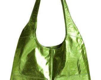 Juniper 2-pocket leather hobo bag