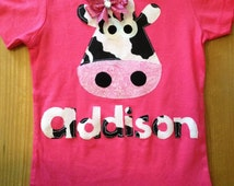 Pink Cow Shirt or Baby Bodysuit