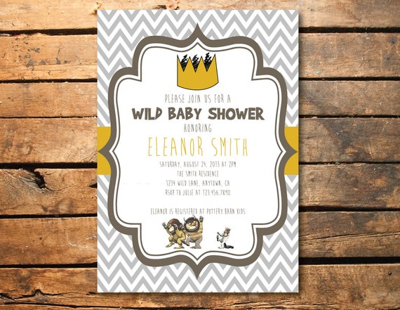 similar to where the wild things are birthday party or baby shower