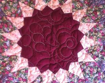 Giant Dahlia Pattern Quilt