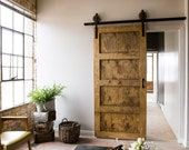 Black 6-8 FT Rustic Sliding Barn Door Closet Hardware Set