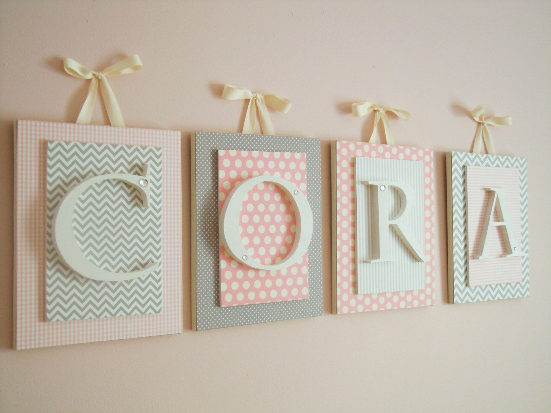 Nursery LettersHanging Wall LettersPersonalized LettersPink