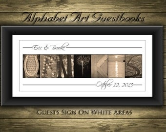 Wedding Guest Book Alternative // Personalized Guest Book  // Custom Wedding Guest Book // Gallery Wrapped Canvas