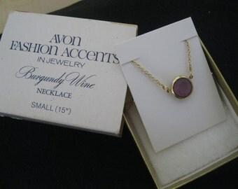 """Vintage """"BURGUNDY WINE"""" Necklace"""