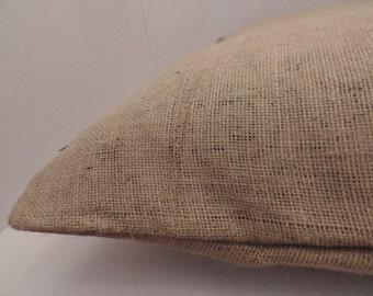 "1 burlap pet bed cover Dog Duvet fits 1 standard sz pillow (19x25"")"