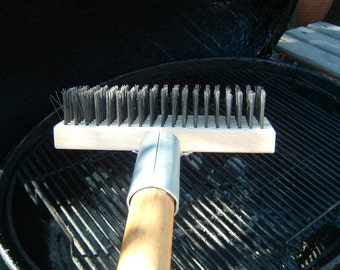TheLastBrush is a BBQ Grill Cleaning Brush for removing grease and practically anything from grill cooking surfaces even while a grills hot