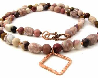 Moukaite ID/Badge Holder Necklace