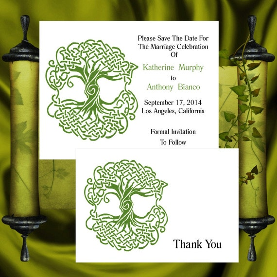 Tree Of Life Invitation Rsvp Celtic Life By: Tree Of Life Invitation & RSVP Celtic Life Tree Wedding