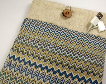 kindle case, Personalized Kindle Cover Padded, Kindle Case, Nook Cover , Ereader Case, Custom Sleeve- Chevron