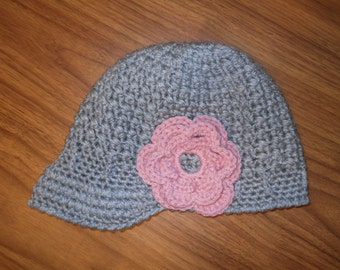 Unique Newsboy Hat with Flower
