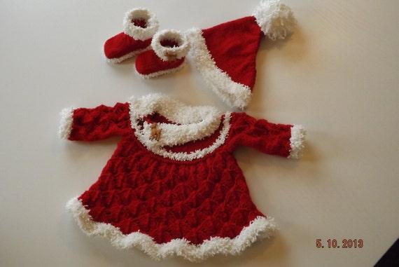 PDF Baby Knitting Patterns Baby Santa Dress by HamptonTowers