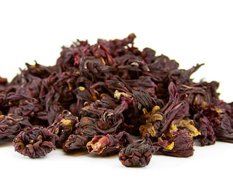8oz Dried Hibiscus Flowers Whole Flowers