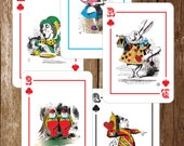 Alice in Wonderland - LARGE - Playing Cards - Birthday - Baby - Bridal Shower - PRINTABLES PDF - Instant Download - Digital