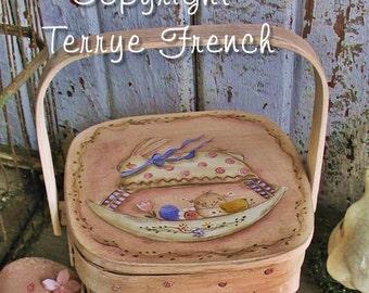 Bunny Rocker Basket by Terrye French