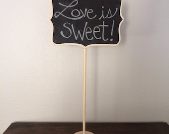 15 Large Chalkboard Table Stands - Shabby Chic Wedding Decor. Chalkboard signs-by HandStampology