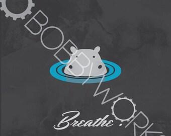 Breathe - Hippo Print