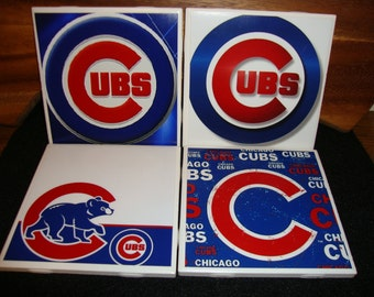 Chicago Cubs Coasters (set of 4)