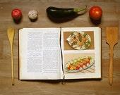 Vintage Soviet Big Cookbook, 1961, Сookery book, soviet bestseller, Soviet era (USSR), home decor, brown, rare book