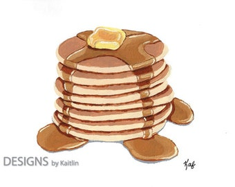 Pancakes 5x7 Print from Acrylic Painting