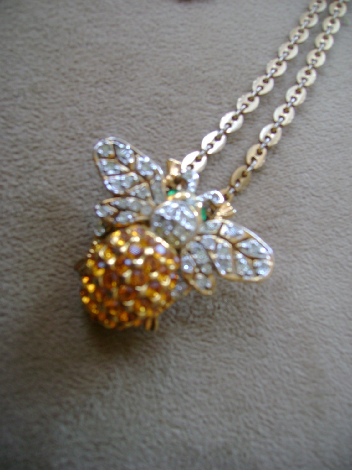 busy bee necklace by truthorwear on etsy