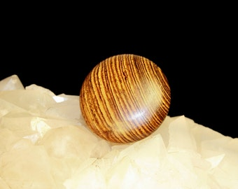 Wood Disc / Stone - Meditation, Healing, Energy, Reiki - Bocote