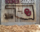 """OKlahoma Sooner State Cutout 12"""" x 17"""" approx. Item #639"""