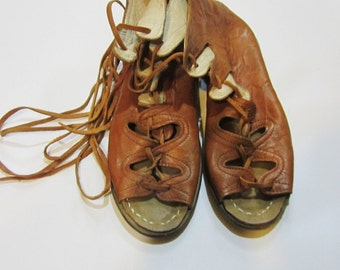 Genuine Leather  HandMade  Organic Sandals Light  Brown . All shoes numbers is available