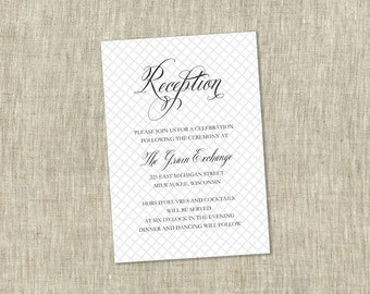 Reception invite – Etsy