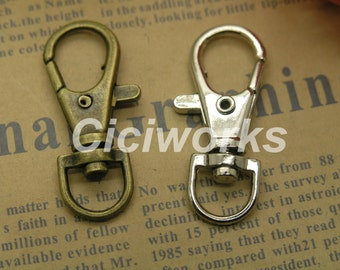 30pcs  16mmx37mm Lobster Swivel Clasps for Keyrings GD30LS70