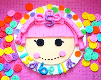 "1 Lalaloopsy 6"" - 8"" Round Cake Topper and buttons"