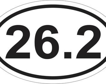 26.2 OVAL STICKER MARATHON Bumper Sticker Window Laptop Car Decal Vinyl Ipad