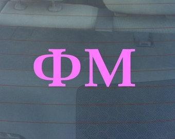 "PHI MU Sorority Sticker Window Laptop Car Decal Vinyl Ipad Iphone 3"" 6"" 8"""