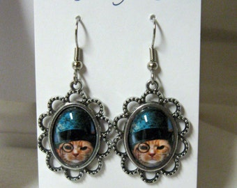 Steampunk kitty earrings - CAP07-002