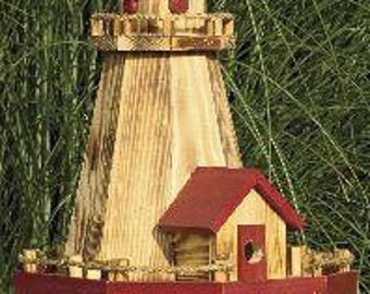 Nautical Lighthouse Birdhouse & Bird Feeder Combo