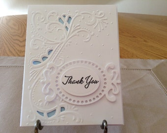 Elegant wedding thank you cards.