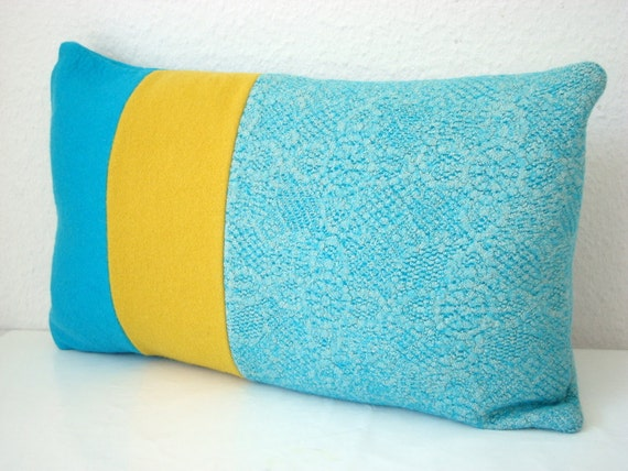 Blue Throw Pillow Cover Turquoise Throw Pillow by NinaMcCannDesign