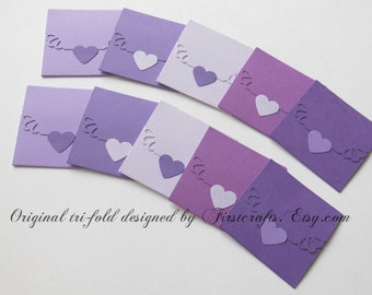 Items similar to Mini note cards- Mini cards- Small cards- Gray ...
