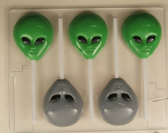 Alien Head Lollipop H076