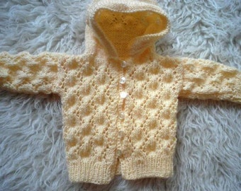 Jacket with hood for babies