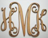 Custom Cut Monograms, Home Decor, Any Size Wooden Monogram, Wall Art, Initial monogram,Wedding Decor