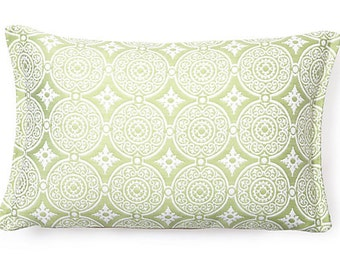 """Medallion 17x11"""" Spring Reversible to back Outdoor Pillow"""