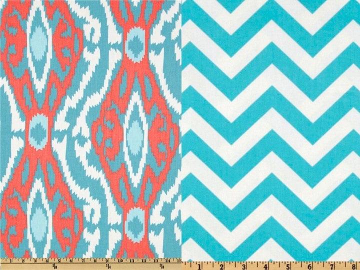 Sale 15 Off Reversible Duvet Cover Ikat Aqua And Coral Dorm